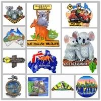 australia 3d wildlife kangaroo koala fridge magnets tourism souvenir collection handicraft gift decoration articles