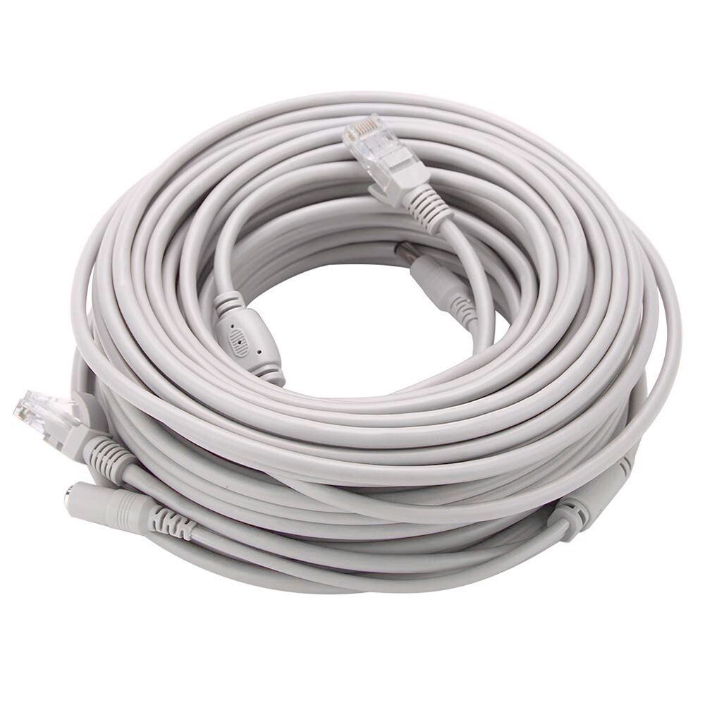 CCTV RJ45 Ethernet Network& DC Power 2 in 1 cable Power supply&Network Extension Lan Cable Optional 5/10/15/20/30m for IP Camera enlarge