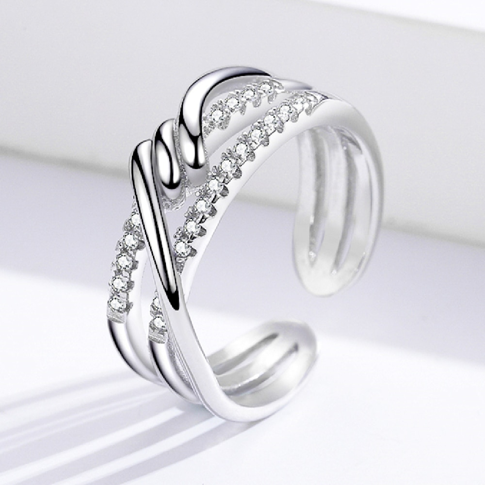 Silver 925 Ring Silver Rings For Women Open Size Adjustable 925 Silver Jewelry Silver Ring Resizable