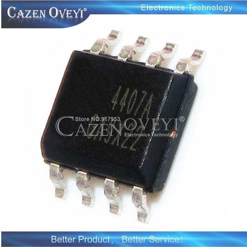 10 peça AO4407AL AO4407A AO4407 4407A 4407 SOP8 30V 12A P-Canal MOSFET Em Estoque