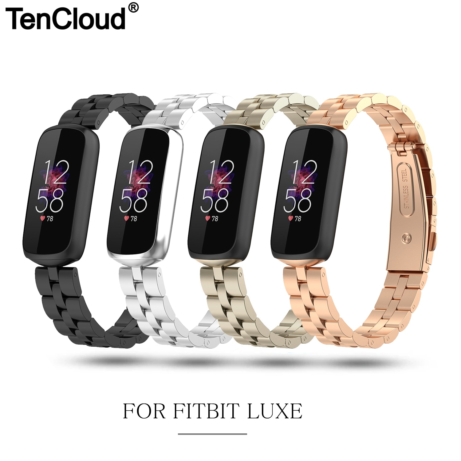 Metal Strap For Fitbit Luxe Watch Band For Fitbit Luxe Stainless Steel Bracelet Loop Smart Watch Acc