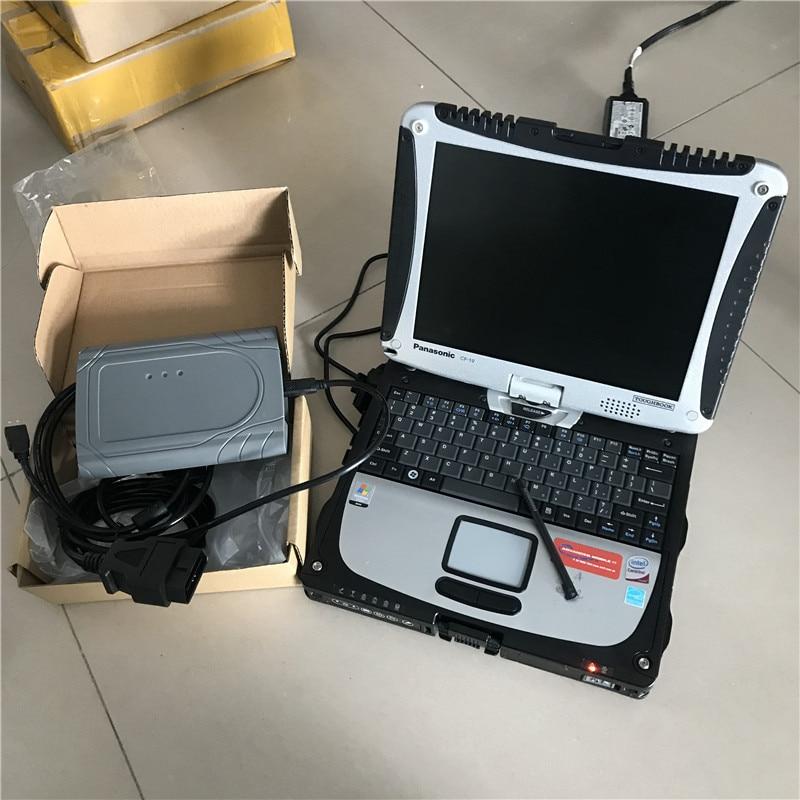 Para toyota diagnóstico escáner otc it3 software instalado bueno en la computadora portátil CF-19 i5 4g completo juego de cables listo para usar