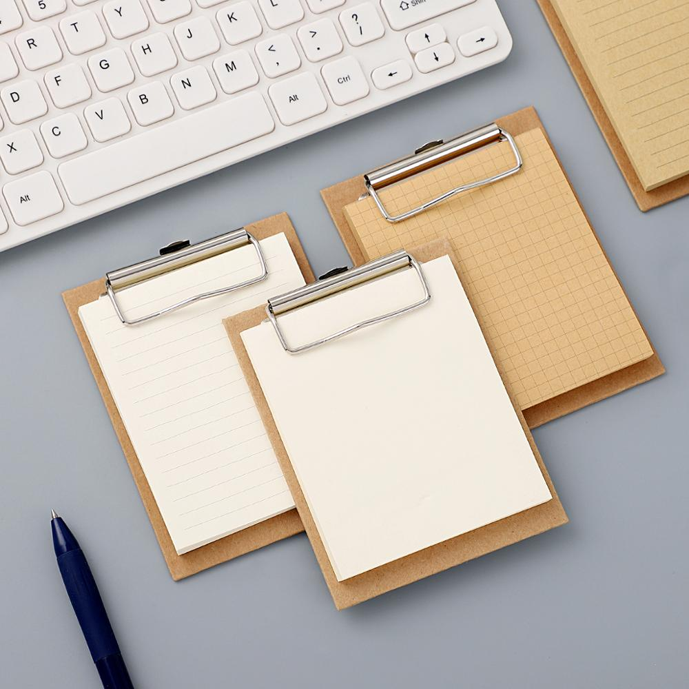 Note Mini Clipboard Memo Pads Basic Color Notebook Printed Simple Note Pad Clip School Supplies Kawaii