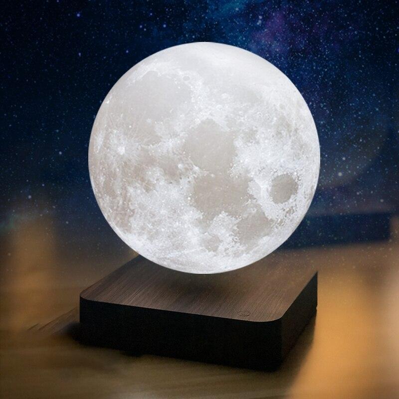 Moon Lamp Creative 3D Magnetic Levitation LED Night Light Rotating  Moon Floating Lamp Home Decoration Holiday DIY Fashion Gift enlarge