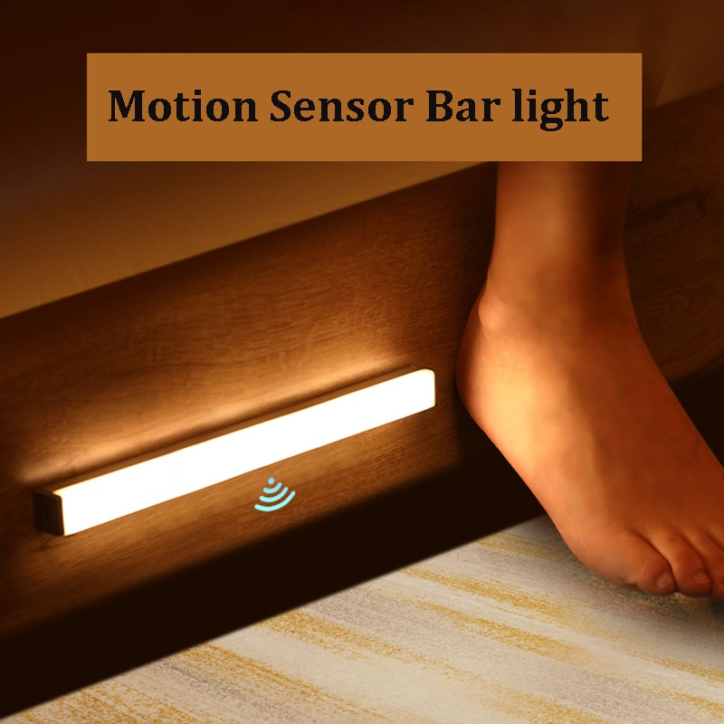 Smart Motion Sensor LED Night Light 6/10 LEDs 98mm 190mm Human body induction for home Bed Kitchen Cabinet Wardrobe Wall Lamp