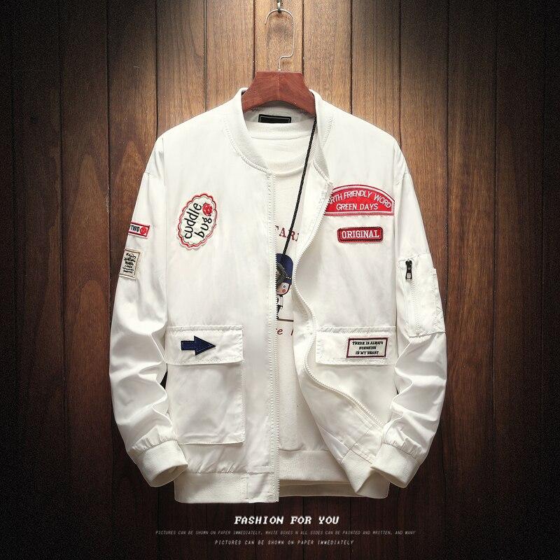 Chaquetas blancas para hombre, recién llegadas, abrigos para hombre, Camo Bomber Jacket, ropa de marca para hombre, prendas de vestir de talla grande