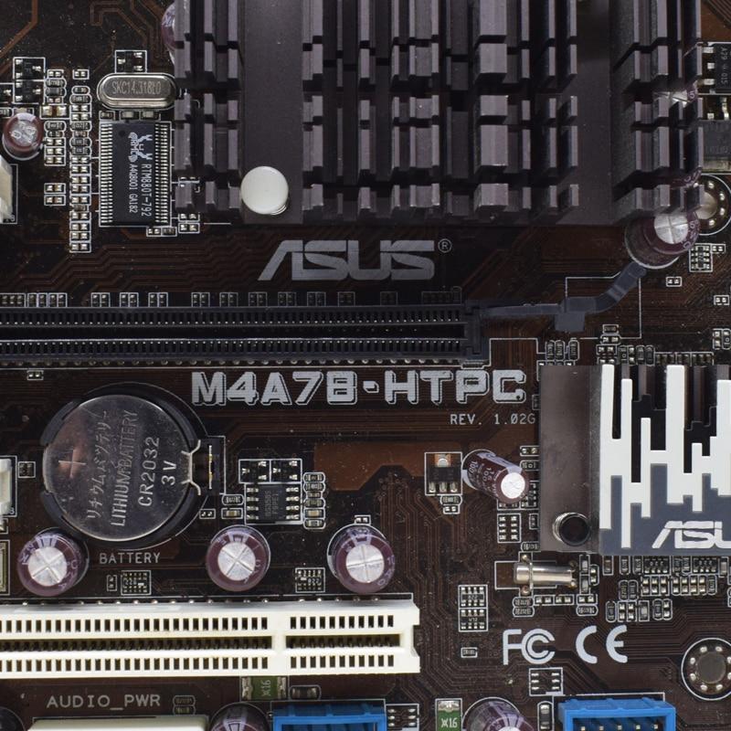 ASUS M4A78-HTPC Socket AM2 AMD 780G Desktop PC Motherboard DDR2 16G PCI-E X16 VGA DVI USB2.0 SATA2 uATX Phenom II/Athlon II CPUS