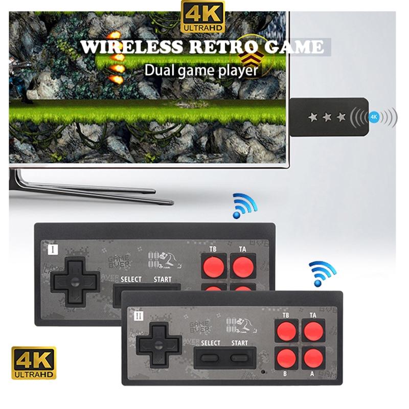 Y2-HD console de jeu 600in1HDMI 4K ultra hd tv jeu de poche lecteur de jeu sans fil rétro double lecteur jeu vidéo de poche connecté