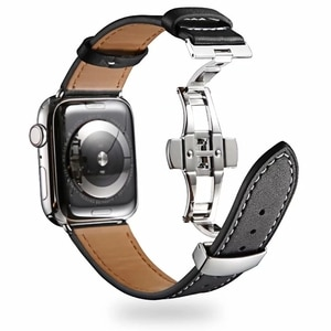 Strap for Apple Watch 5 Band 40mm 44mm iWatch serie 4/5/6/SE Genuine Leather Loop bracelet Apple watch band 42mm 38mm