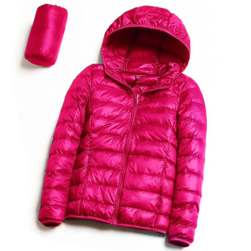BKMGC mujeres con capucha de pato blanco chaqueta de plumón otoño invierno cálido Casual Delgado abrigo señora ultraligero a prueba de viento pato chaqueta 4xl