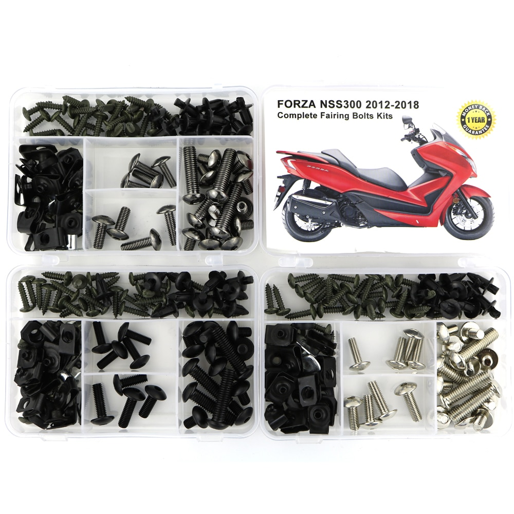 Para Honda Forza NSS300 2012-2018 completo kit de tornillos de carenado Clips velocidad tuercas tornillos para carrocería cubierta pernos de acero