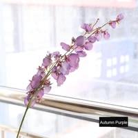 10pcs artificial 4 fork dance orchid fake flowers for home living room decoration garden wedding flower wall arrangement orchid