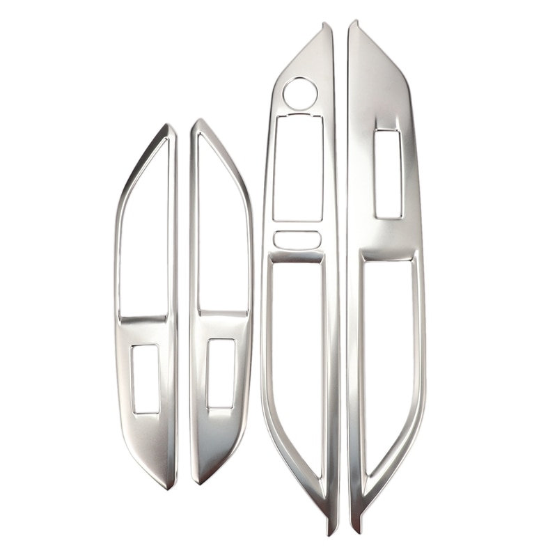 Marco de Panel de Control de interruptor de elevación de cristal para ventana de 4 piezas deflector decorativo para Peugeot 3008 GT 5008 GT 2017 2018