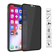 Закаленное стекло для iPhone 12 11 Pro XS Max X XR, черный защитный экран с защитой от шпионов для iPhone 6, 6S, 7, 8 Plus, защитная пленка