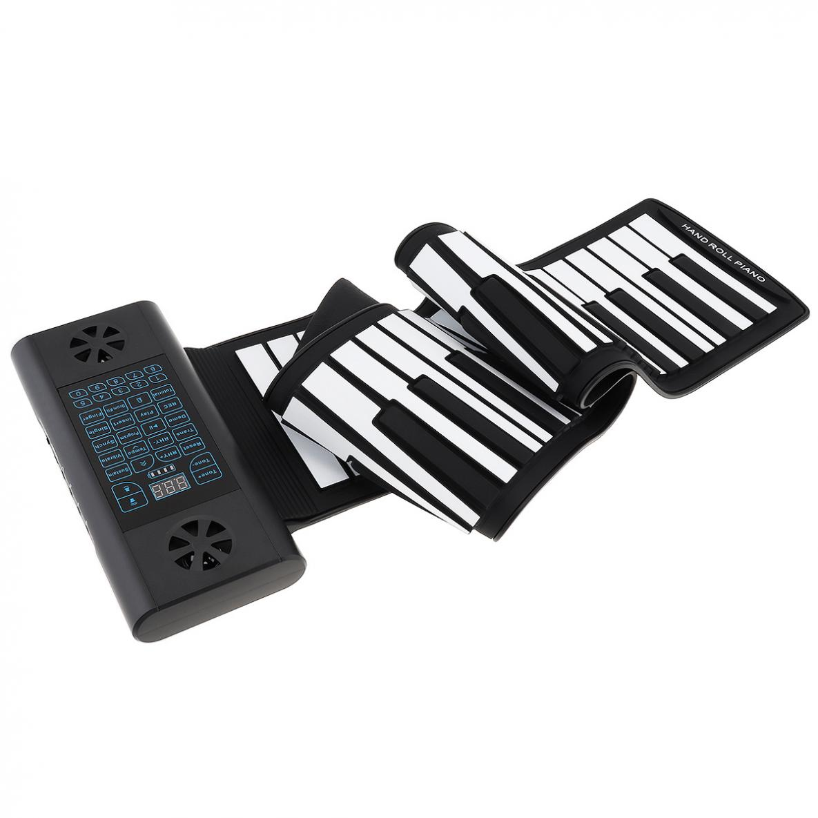 61 Keys MIDI Roll Up Electronic Piano Rechargeable Silicone Flexible Keyboard Organ Built-in 2 Speakers Support Audio enlarge