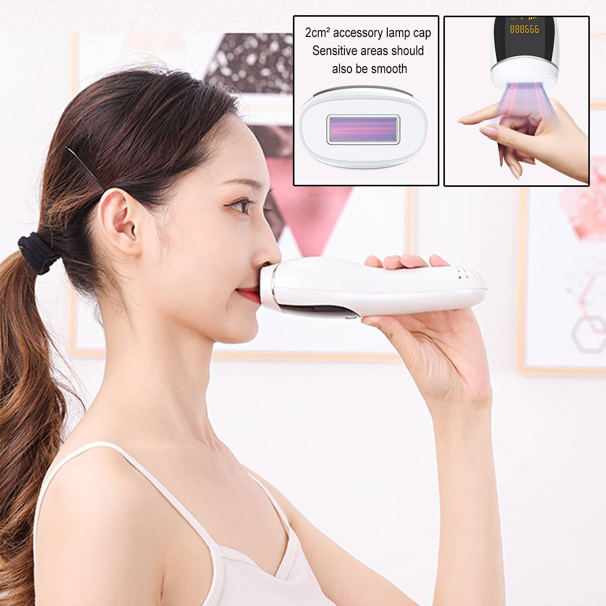 2 In 1 990000 Flash IPL Laser Hair Removal Machine Photon Permanent Device  Facial Body Hair Trimmer Epilator With LCD Display enlarge