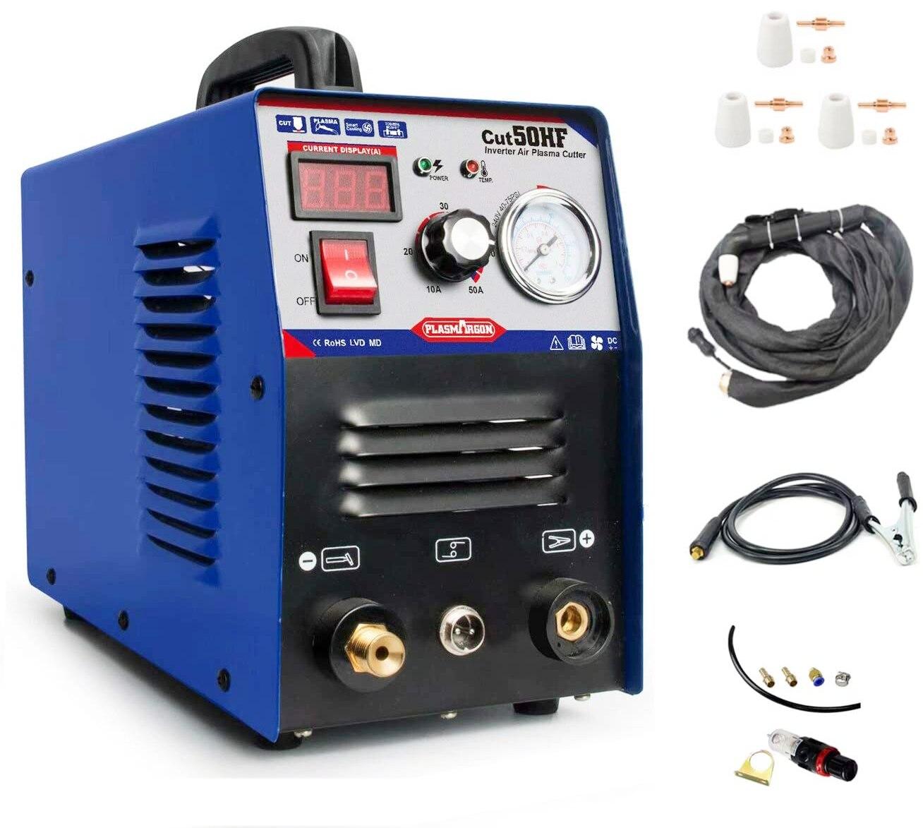 Air Plasma Cutter IGBT DC Inverter Digital Display 50A Cut  DIY Tool 110-220v