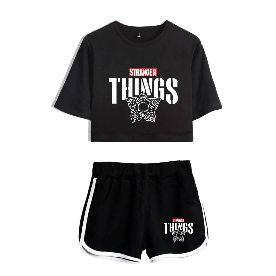 Tracksuit Popular Two Sport 3D Shorts Things Sexy Piece Girls Shorts Shirts Tops T-shirts Leisure Set Outfit Women Stranger Suit