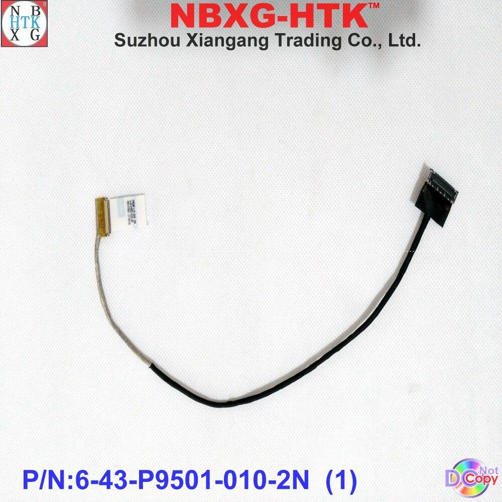 Nuevo original pantalla lcd cable para Clevo P950HP LCD EDP 30PIN CBALE 6-43-P9501-010-2N LCD CABLE