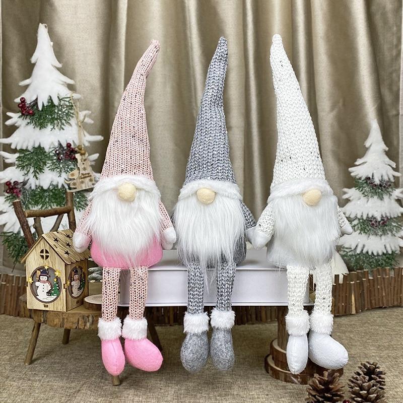 Navideño muñeco sin rostro decoración de Año Nuevo adornos navideños para el hogar adornos navideños Navidad Natal Año Nuevo 2021