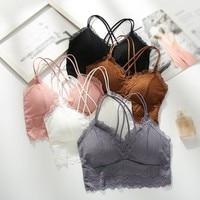 Women Lace Bras Beauty Back Underwear Female Sexy Bralette Female Wireless Bra Seamless Lingeries