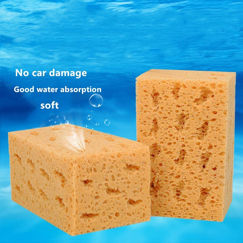 Car Wash Sponge Extra Large Cleaning Honeycomb Coral Car Yellow Thick Sponge Block Car Supplies Auto Wash Tools Absorbent
