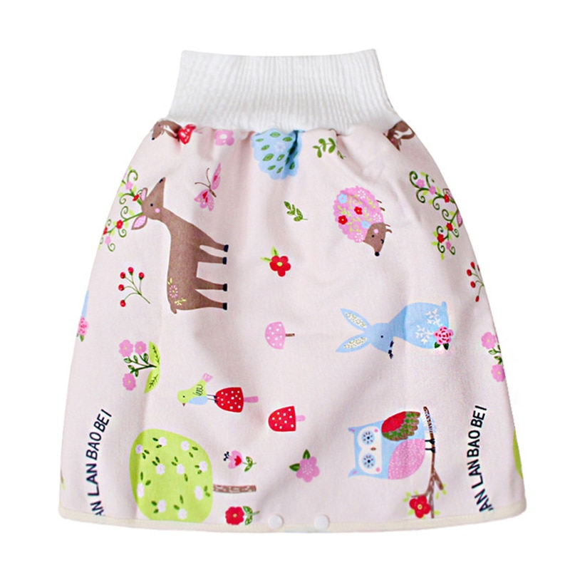 Cómoda caricatura niños a prueba de fugas cintura alta protección del vientre pañal falda transpirable para niños H7JP