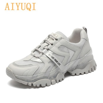 AIYUQI Women's Sneakers 2021 Summer New Single Mesh Platform Casual Shoes Ladies Korean Student Shoes Girl