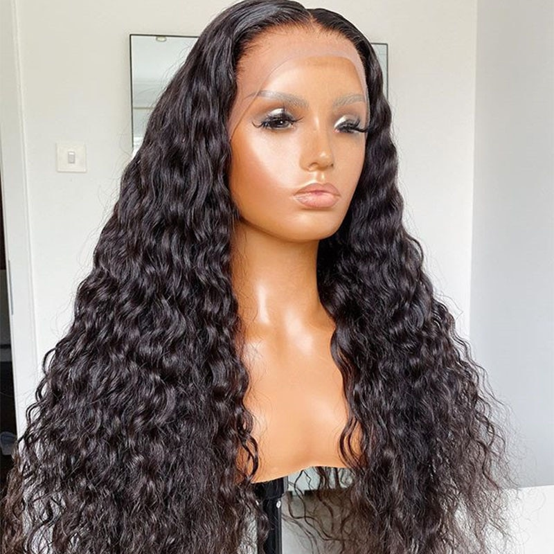 Fake Scalp 250 Density Loose Curly 13X4 Lace Front Human Hair Wigs Brazilian 360 Lace Frontal Wig With Baby Hair You May Remy