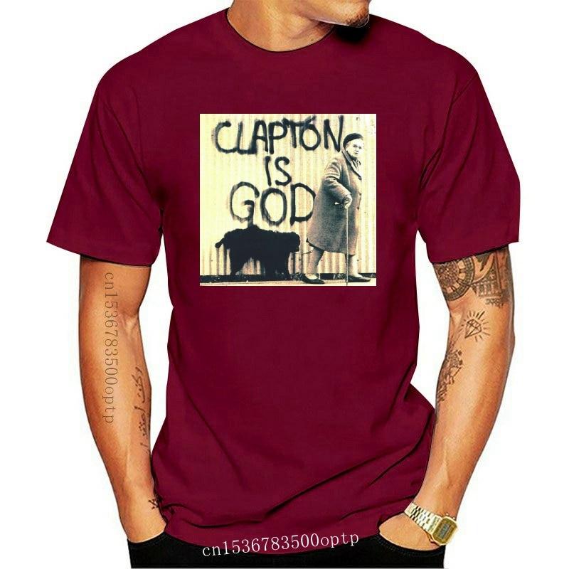 New 100% Cotton Print Mens Summer O-Neck ERIC CLAPTON - clapton is god Black Men T Shirt Size women tshirt