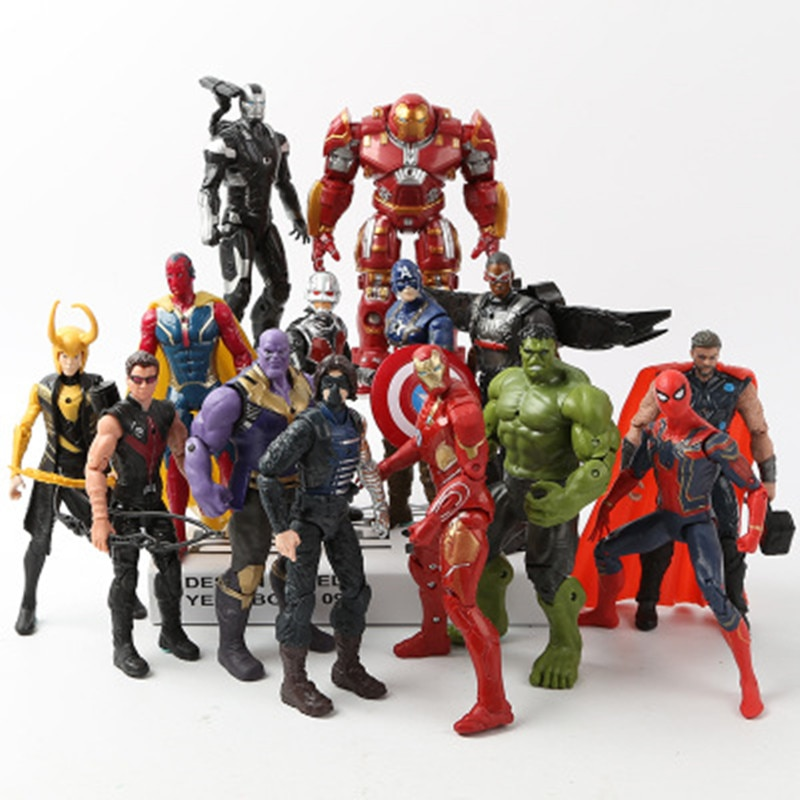 Marvel Avengers 3 infinity war Movie Anime Black Panther Spiderman Captain America hulk Ironman thor Action Figure Toys