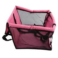 foldable car pet dog seat cover oxford fabric pet carrier mesh basket black pink car pet bed pad black pink