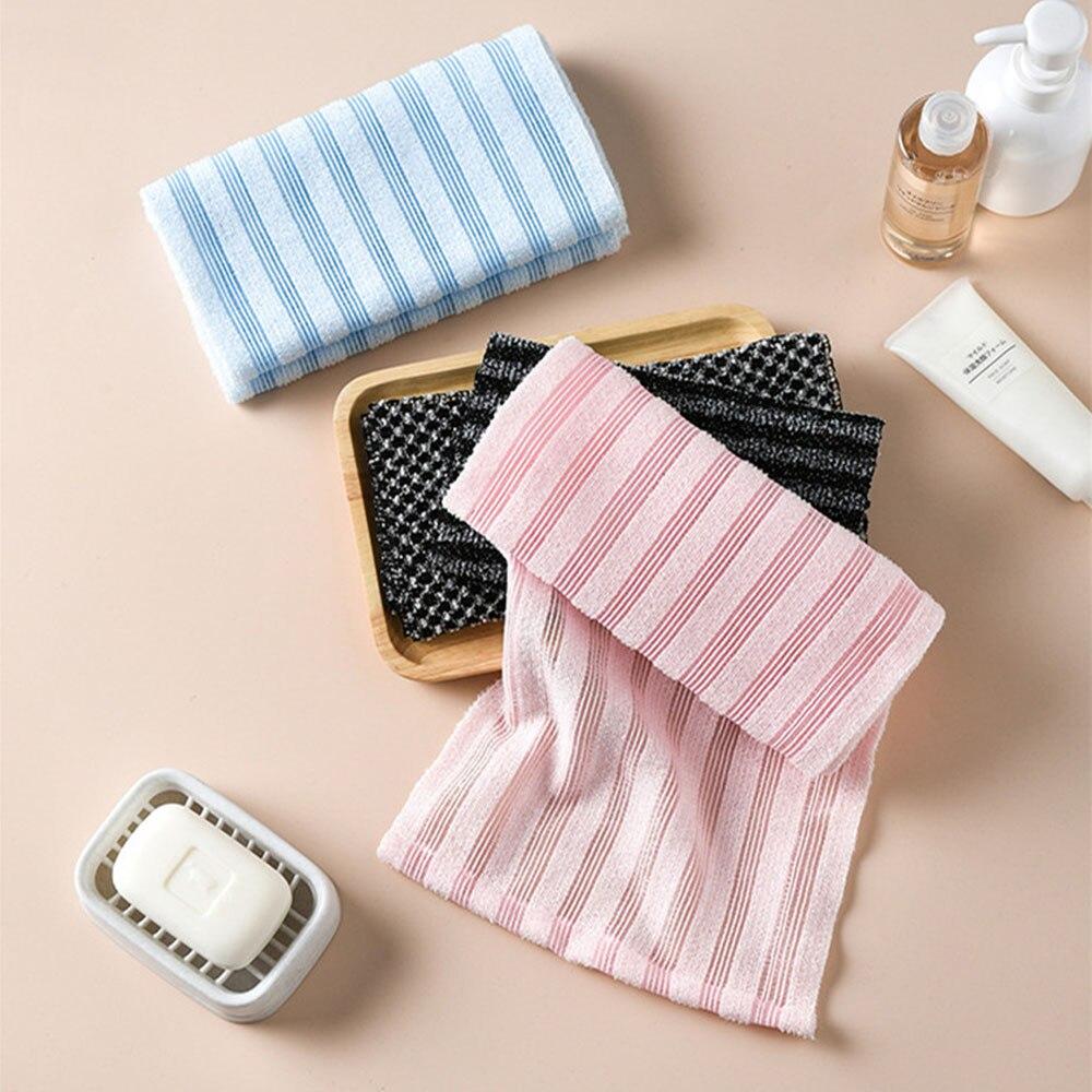1PCS Rubbing Washcloth Bath Brush For Back Towels Exfoliating Scrub Shower Sponge For Body Bathroom