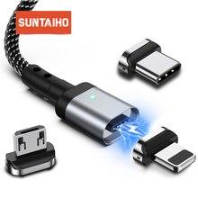 Cavo di ricarica usb magnetico cavo magnetico cavo Micro USB C tipo C ricarica rapida per illuminazione iphone caricatore magnetico USB di tipo C.