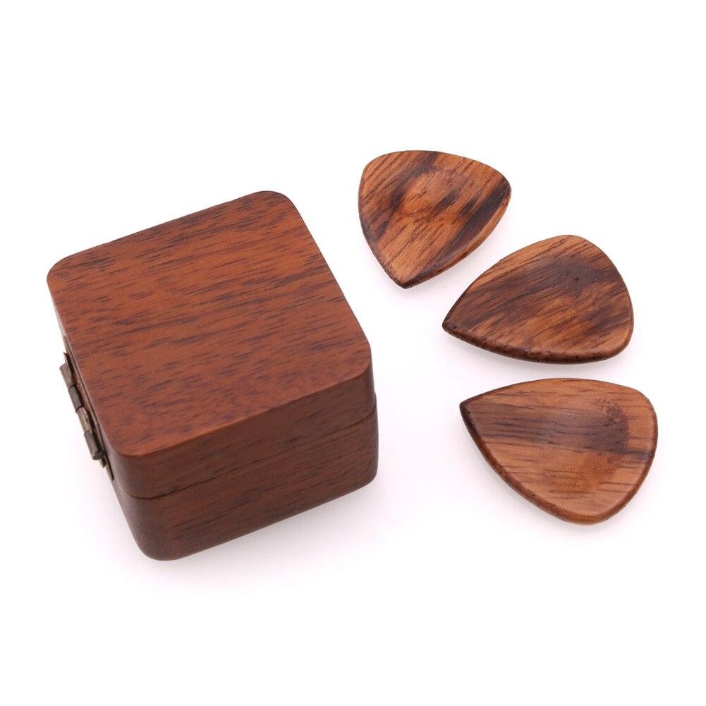 Ukelele mediador de bajos portátil en forma de corazón púa de guitarra delgada regalo ligero accesorios de madera Durable con caja acústica