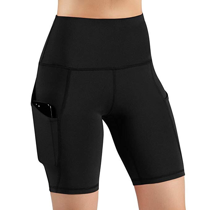 Leggings feminino cintura alta com bolso, yoga corrida atlética