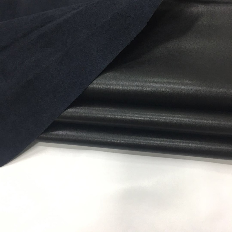 Rindsleder polyuräthan Schwarz leder 1,4mm echtem leder Klar linien mikrofaser Haut Napa venen leder Freies verschiffen