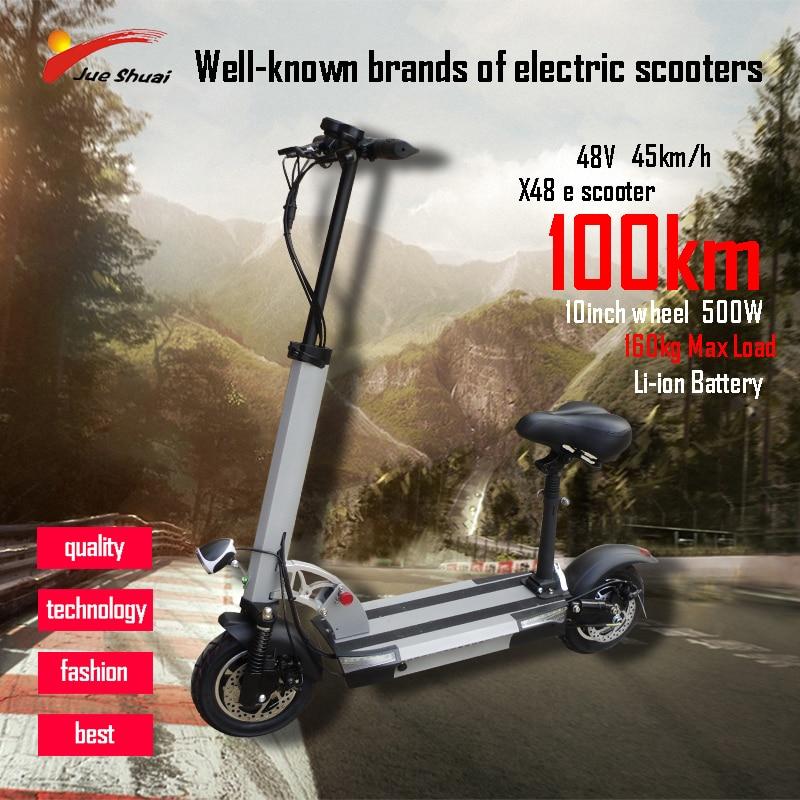 Patinete eléctrico de larga distancia de 100km, 10 pulgadas, 48V y 500W,...