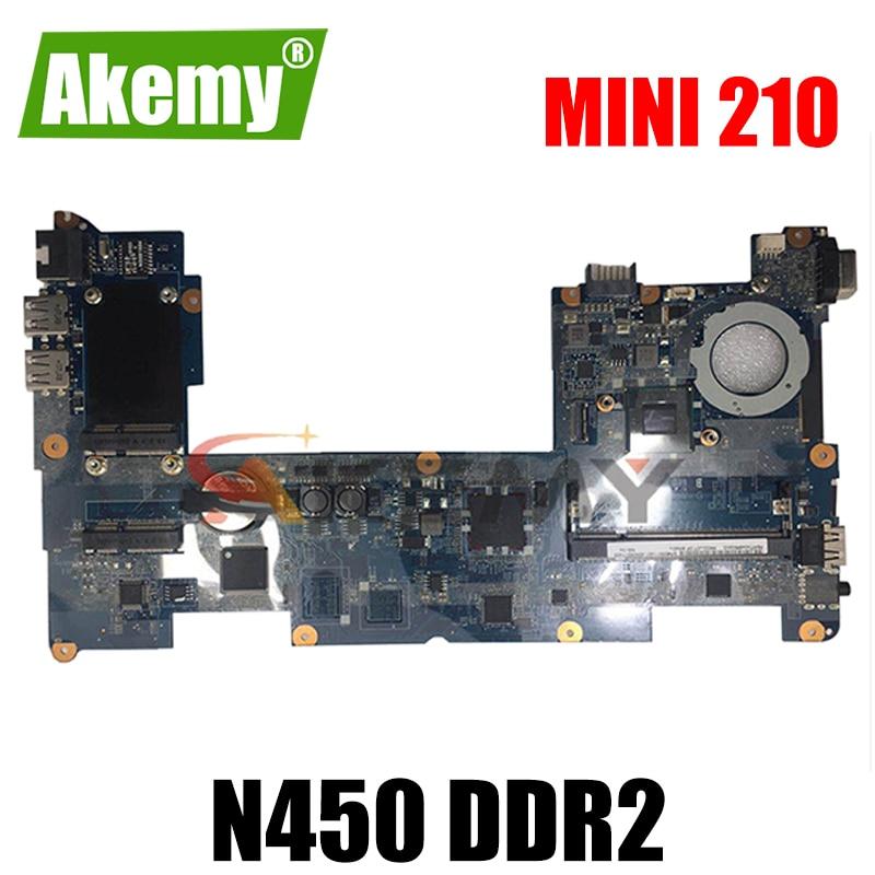 AKemy598011-001 محمول لوحة رئيسية لأجهزة HP البسيطة 210 N450 DDR2 اللوحة الأم اختبار كامل