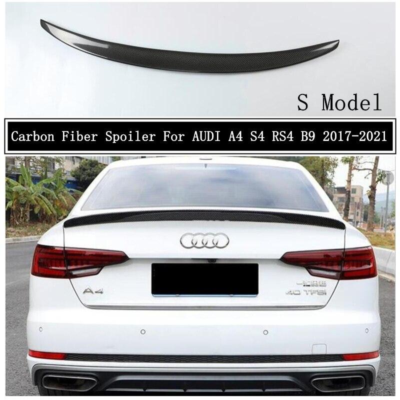 Спойлер из углеродного волокна для AUDI A4 S4 RS4 B9 2017 2018 2019 2020 2021 крыло выступ Спойлеры высокое качество автомобильные аксессуары