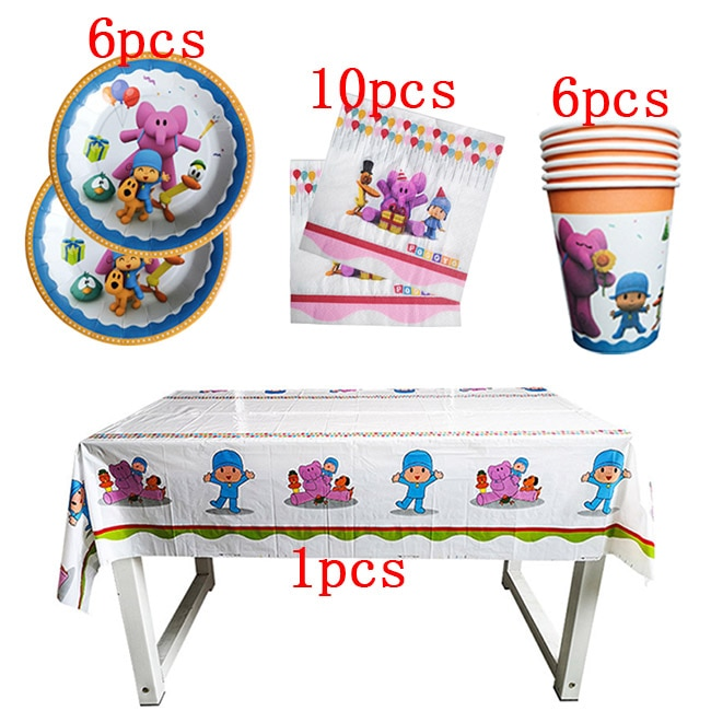 23Pcs / POYOCO Party Supplies Baby Bath Party Tableware Kids Birthday Party Decoration Birthday Ball