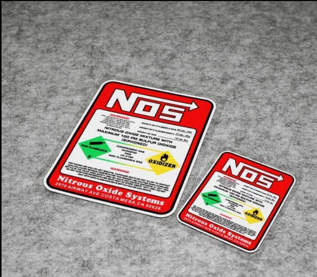Carro de corrida adesivos nos óxido nitroso sistemas adesivos tuning racing vinil decalque do carro motocross corrida para arrastar corrida