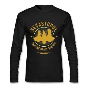 90S Retro Clothing Sevastopol Station T Shirt Long Sleeve Clothes Pop Couple Cotton Crewneck Funny Tee Shirts Official Apparel