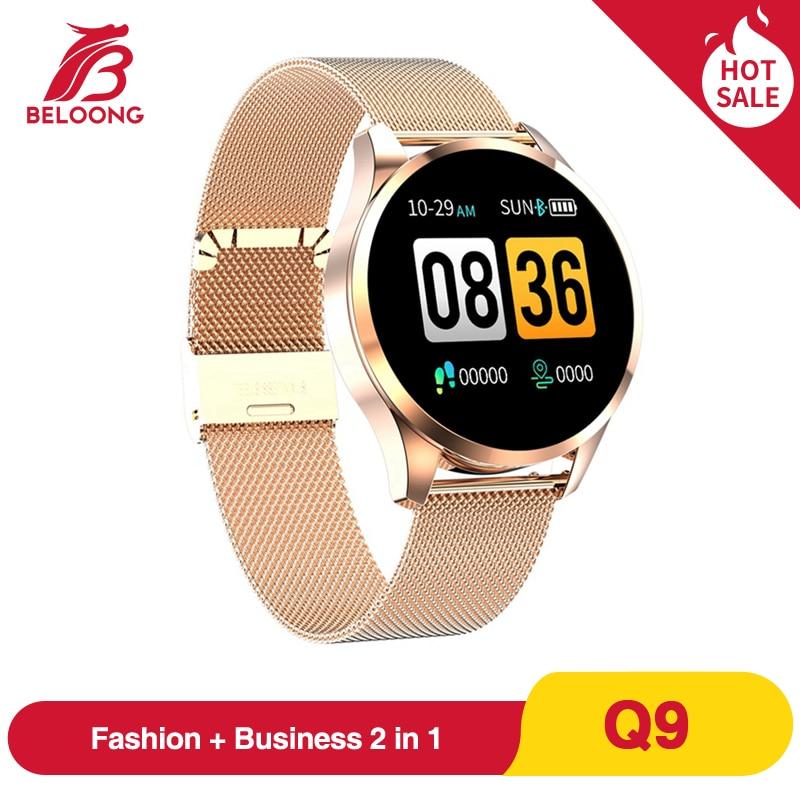 Hot Sale BELOONG Q9 Smart Watch Men Waterproof HR Sensor Blood Pressure Monitor Fashion Fitness Tracker Smartwatch VS Q8 Q20