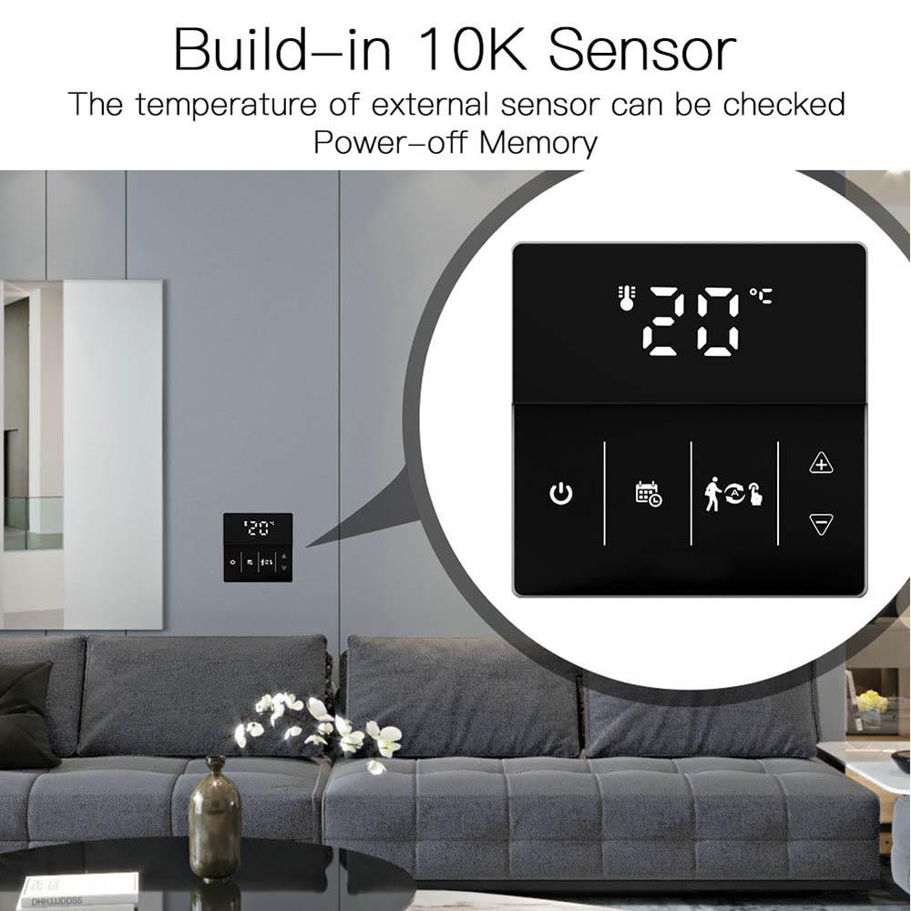 واي فاي الذكية ترموستات تحكم في درجة الحرارة للكهرباء التدفئة الكلمة التطبيق/التحكم باللمس صوت متوافق مع جوجل المنزل