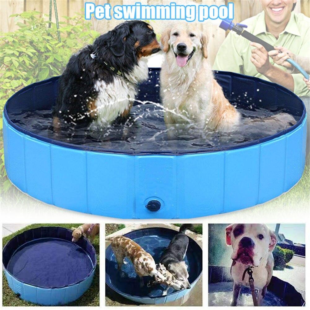 Hund Pool Faltbare Pet Bad Pool Folding für Welpen Katze Kinder Garten Outdoor Dropshipping