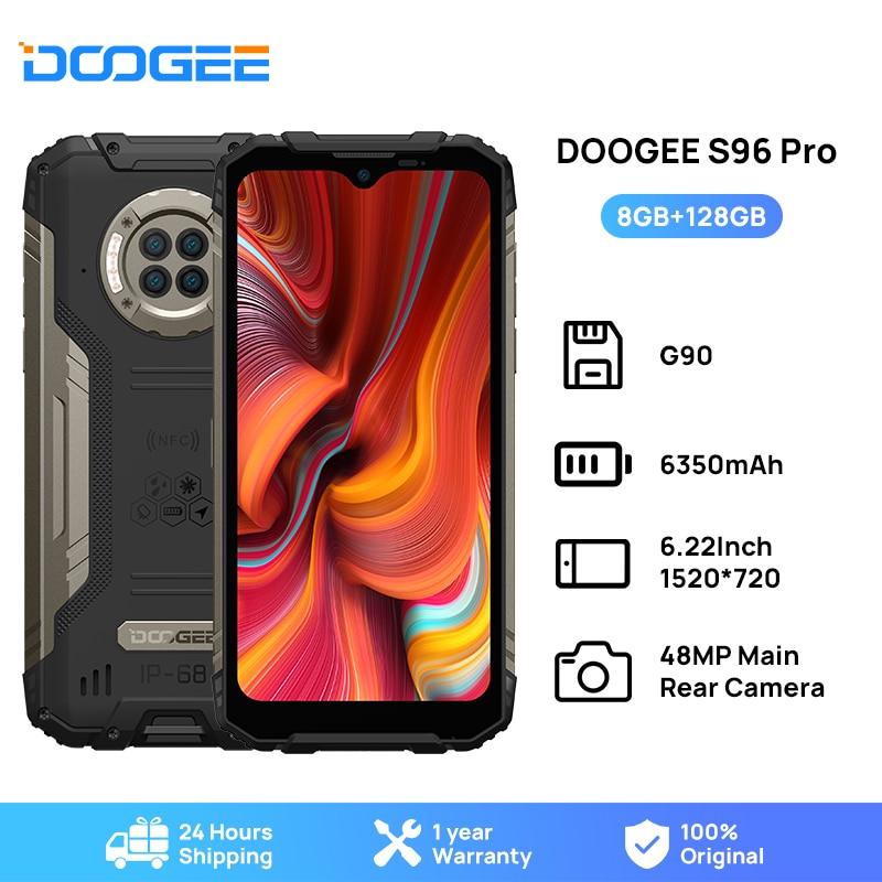 DOOGEE S96 Pro مقاوم للماء جوّال المهامّ الوعرة 48 ميجابكسل مستدير رباعي الكاميرا 20ميجابكسل الأشعة تحت الحمراء للرؤية الليلية هيليو G90 ثماني النواة...