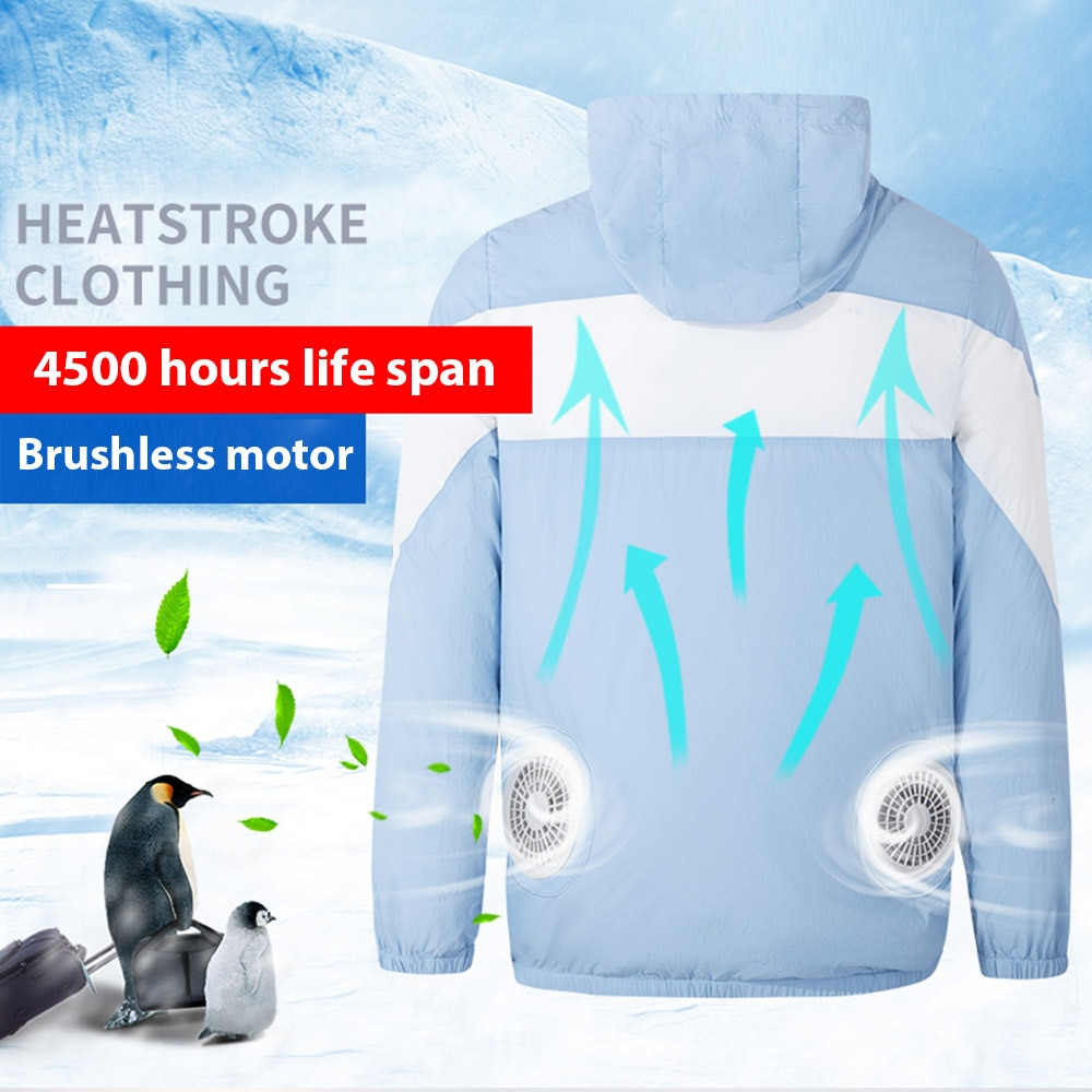 Fan Jacket Cooling Coat Air Conditioning Cool Coat USB Charging Waistcoat Fishing Cycling Cost For High Temperature Work man cooling coat summer cold fan air conditioning clothes thick outdoor high temperature welding work clothes