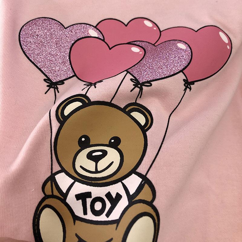 Fashion  Baby  Girls Cotton T Shirt Children Summer Clothes Cartoon Bear Pattern Tees Girls Tshirt High Quality Kids Casual Tops