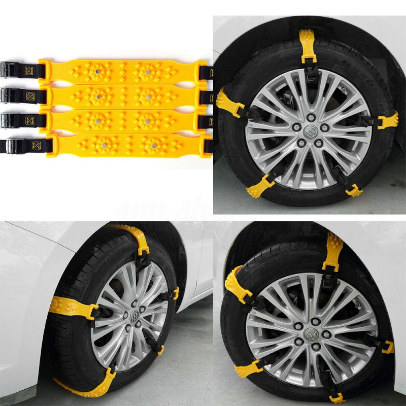 10pcs/20pcs/set Car Tyre Winter Roadway Safety Tire Snow Adjustable Anti-skid Safety TPU Chains Double Snap Skid Wheel Parts